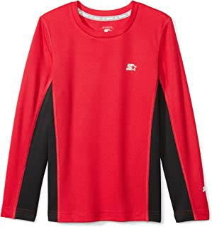 Starter Boys' Long Sleeve Colorblocked Tech T-Shirt, Amazon Exclusive