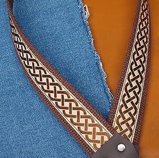 CELTIC KNOT Cotton USA-made A & F style TROPHY Mandolin Strap