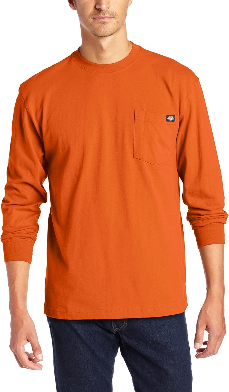 Dickies Mens Big /& Tall Long-Sleeve Heavyweight Crew-Neck T-Shirt