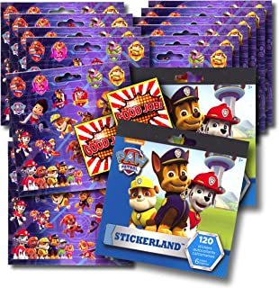 PAW PATROL Stickers Party Favors - Bundle of 12 Sheets 240+ Stickers plus 2 Specialty Stickers!