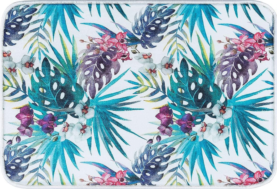 Anti Fatigue Floral Multi Color Comfort Non Slip Multi Purpose Kitchen Mat 20 X 30