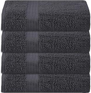 Glamburg Premium Cotton 4 Pack Bath Towel Set - 100% Pure Cotton - 4 Bath Towels 27x54 - Ideal for Everyday use - Ultra So...