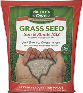 Mountain View Seeds Natures Own Sun & Shade Mix Grass Seed, 18-pounds
