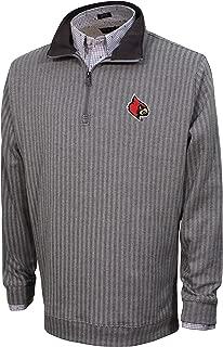 Vesi NCAA Men's Herringbone Quarter Zip, Charcoal/Gray, Medium