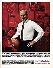 1964 YA Tittle New York Giants-Manhattan Shirts-Original 13.5 * 10.5 Magazine Ad