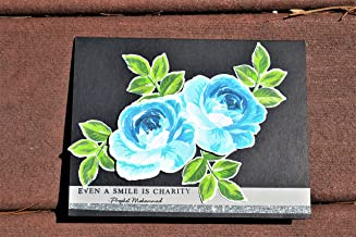 Islamic handmade card, Prophet Mohammad Hadith card, Duaa card, Ramadan mubarak card, Eid mubarak card, Mawled card, Flower card.