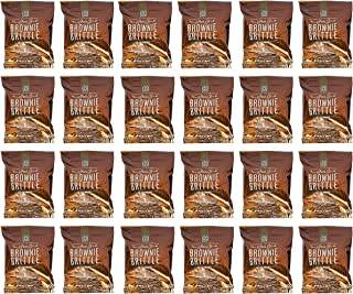 Set of 24 Salted Caramel Sheila G's Brownie Brittle Bags! 1oz Snack Bags! 120 Calories! Made from the Finest Ingredients! Rich Brownie Taste with a Cookie Crunch!