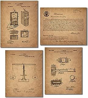Lawyer - Paralegals - Legal Assistants Patent Wall Art Prints - Set of 4 Vintage Photos