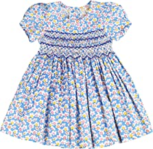 sissymini - Infant and Toddlers (12M-4T) Hand Smocked Dresses | Sophie Foster's Speckled Floral Frock