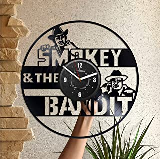 Vinyl Record Wall Clock Smokey and The Bandit Home Decor Wall Art Gift for Him and Her Women and Men Happy Birthday Anniversary Christmas Xmas Wedding Housewarming Easter