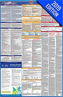 2019 Connecticut Labor Law Poster – State, Federal, OSHA Compliant – Single Laminated Poster