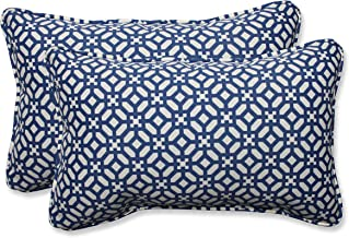 Pillow Perfect Outdoor/Indoor in The Frame Rectangular Throw Pillow (Set of 2), Sapphire