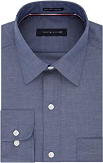 Tommy Hilfiger Men's Dress Shirt Regular Fit Non Iron Solid