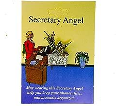 Sujak Military Items Secretary Guardian Angel Lucky Charm Hat Lapel Pin