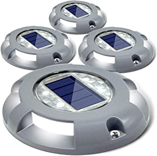 Siedinlar Solar Deck Lights Driveway Dock LED Light Solar Powered Outdoor Waterproof Road..