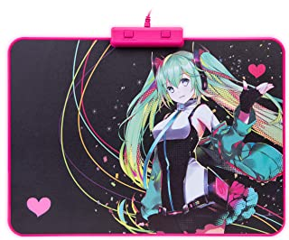 Thermaltake Tt Esports Draconem RGB Hatsune Miku Edition Gaming Mouse Pad High DPI Compatible Hard Surface Non-Slip Rubber...