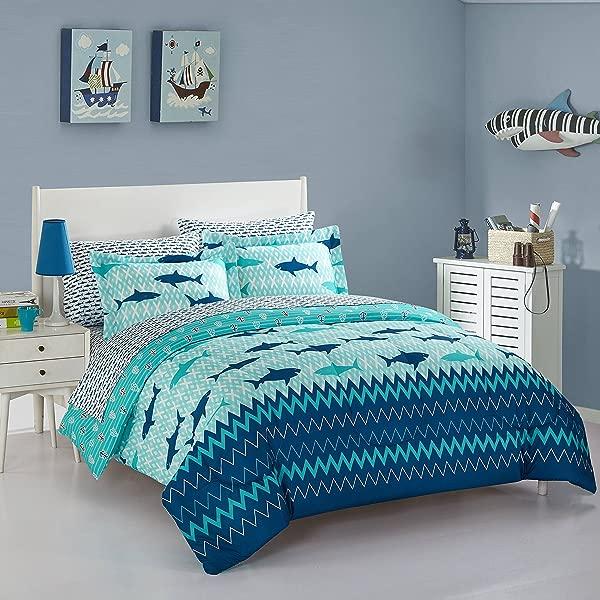 Idea Nuova Sea Shark Bed In A Bag Twin Multi