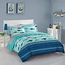 Idea Nuova Sea Shark Bed in A Bag, Twin, Multi