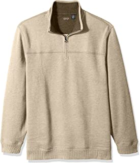 Arrow 1851 Men's Saranac Long Sleeve 1/4 Zip Sueded Fleece Pullover