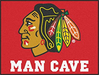 FANMATS 14409 NHL Chicago Blackhawks Nylon Universal Man Cave All-Star Mat