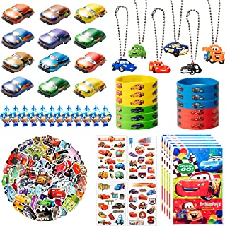 122Pcs Race Cars Party Supplies Kit, Lightning McQueen Party Favors All-in-one Package Party Supplies Including Cartoon Ta...