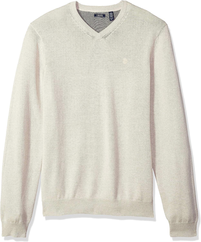 IZOD Men's Big and Tall Premium Essentials Solid V-Neck 12 Gauge Sweater (Discontinued)
