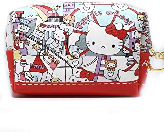 Hello Kitty Makeup Bag, Perfect Cosmetic Bag for Travel, Brushes, and Accessories, Great gifts for her, girls and kids (Ferris)