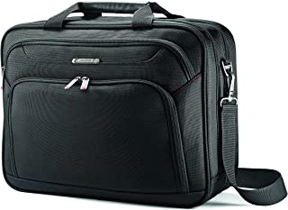 Samsonite 89433 Xenon Two Gusset Soft Side Laptop Briefcase, Black, 42 Centimeters