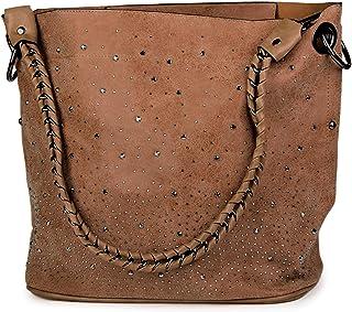 styleBREAKER Set borsette con Applique di Strass e Design Volta stellata, 2 borse 02012013, Colore:Marrone