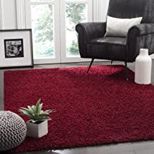Safavieh Athens Shag Collection SGA119R Red Area Rug (3' x 5')