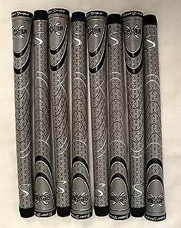 SuperStroke 8 Cross Comfort Midsize Golf Grips - Gray/Black - 18847