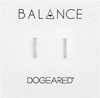 Dogeared 亚马逊进口直采 美国品牌 Balance 银质扁条 女士耳钉