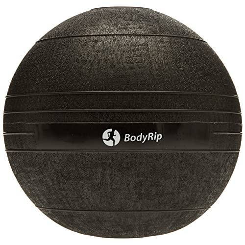 BodyRip NO BOUNCE Medicine Slam Ball Med Ball | Heavy Duty, Durable | Functional Strength Training, Home Gym, Fitness Exercise, Weight Lifting, Fat Loss, Ripped, Crossfit, Calisthenics, MMA