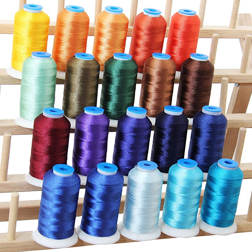 Threadart 20 Spool Polyester Embroidery Machine Thread Royal Colors | 1000M Spools 40wt | For Brother Babylock Janome Singer Pfaff Husqvarna Bernina Machines - 10 Sets Available