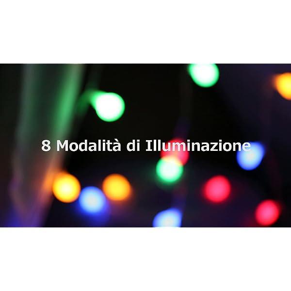 LE Catena Luminosa 13M 100 Lampadina LED RGB, Luci Stringa Impermeabile per Esterno ed Interno, 8 Modalità di Illuminazione e Funzione Timer, Ideale per Decorazione Casa, Natale, Feste, Giardino 7 spesavip