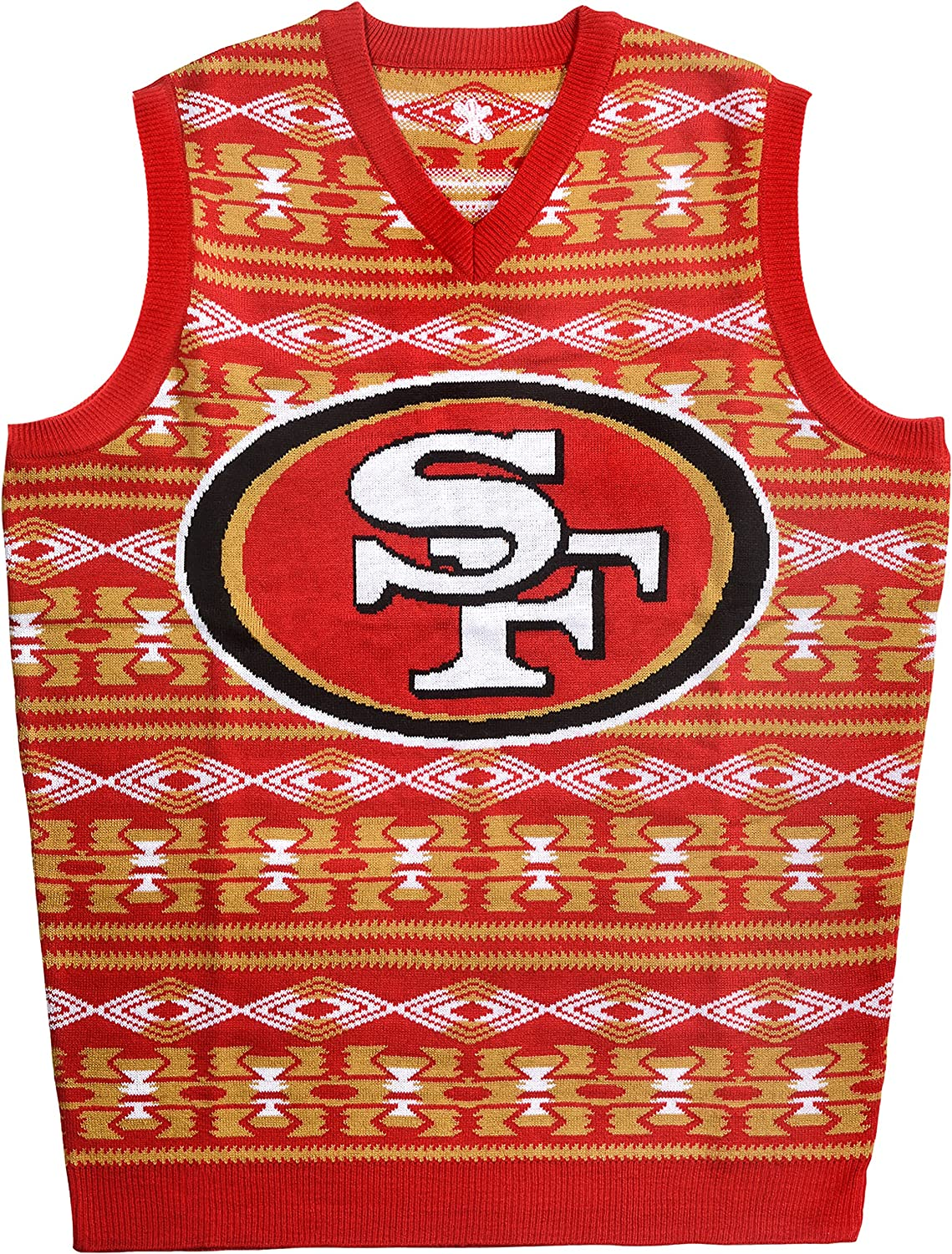 FOCO Super sale period limited New product NFL Aztec Vest Sweater Ugly