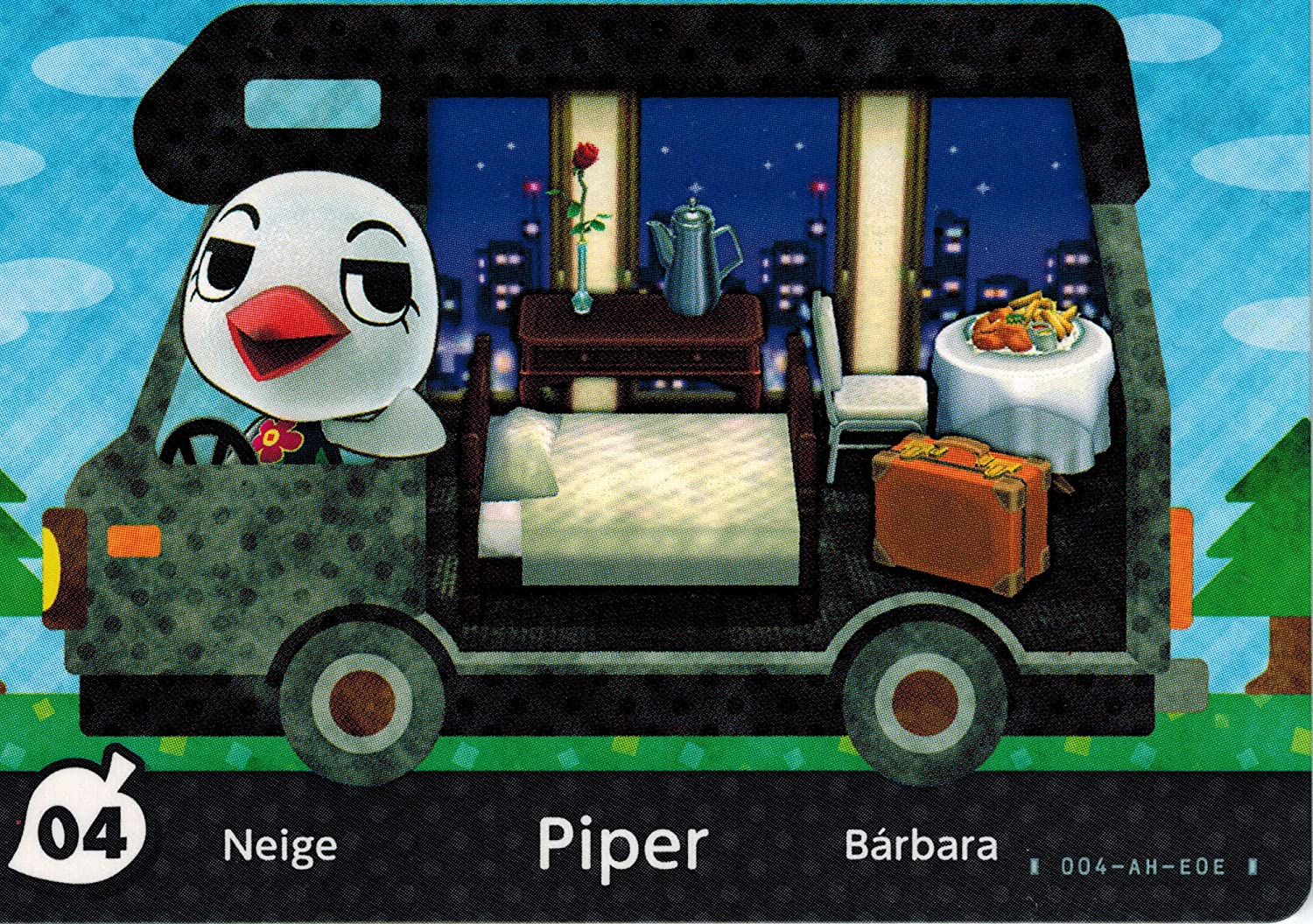 Nintendo New Leaf Animal Crossing Welcome 04 All stores Albuquerque Mall are sold 5 Amiibo Piper Card