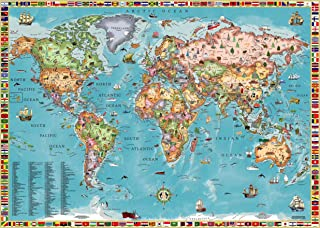 World Map for Kids (Laminated)