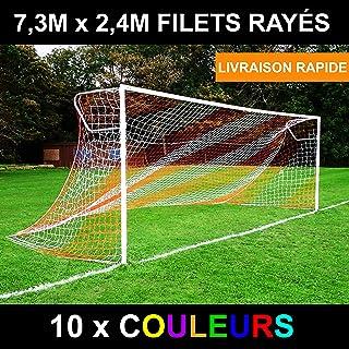Pwshymi Filet de Football de Filet de Football de Remplacement de Filet de Poteau de But de Football de Sport pour lentra/înement de Match de Sport