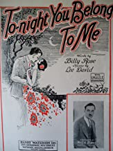To-Night You Belong To Me. (Sheet Music) BARBELLE COVER ART