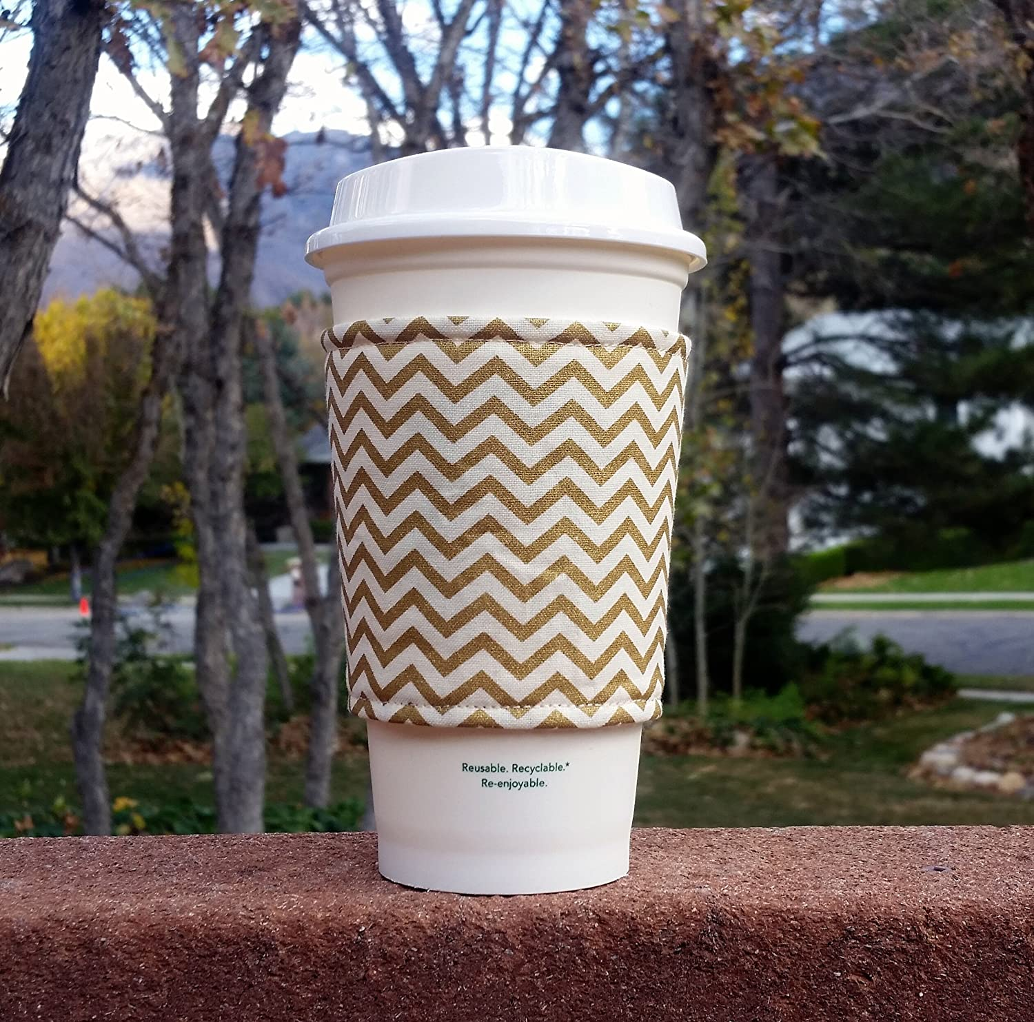 Fabric coffee cozy Phoenix Mall cup holder famous sleeve -