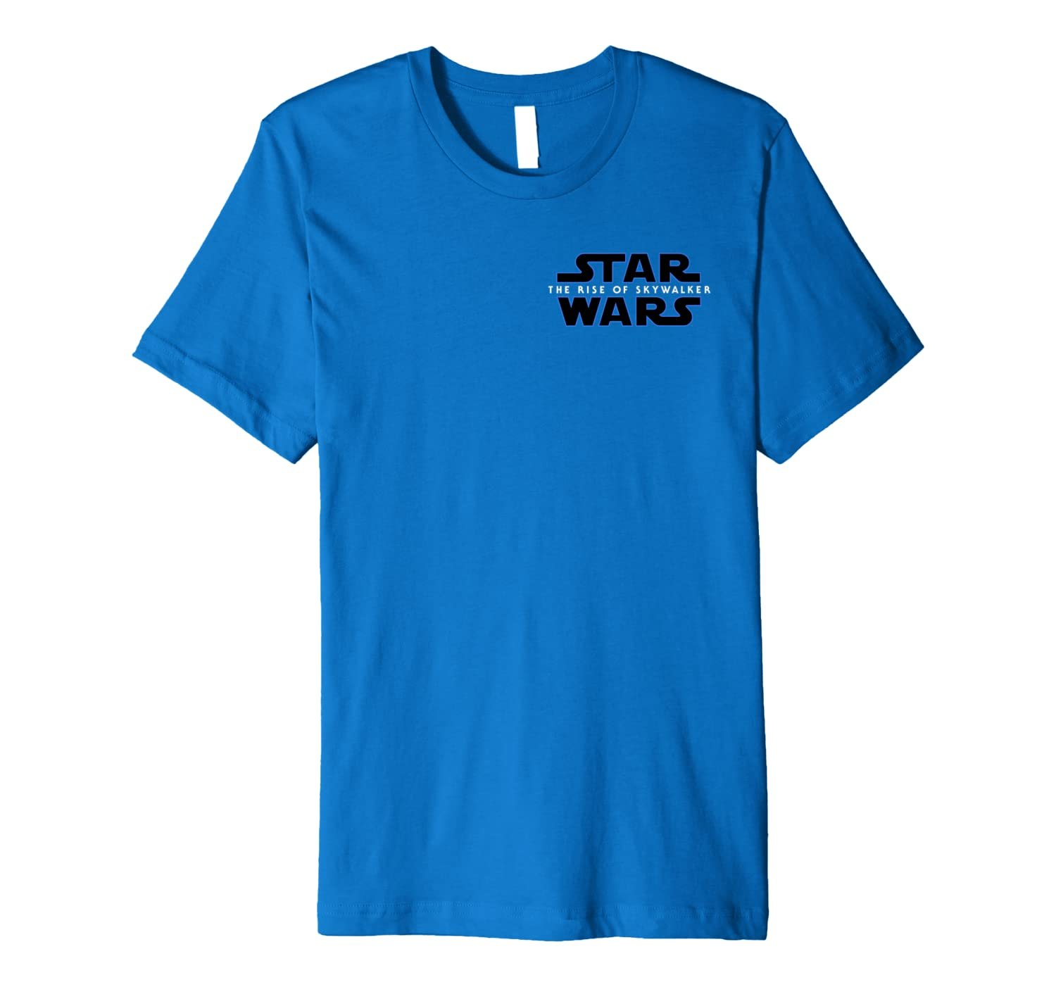 Amazon Com Star Wars The Rise Of Skywalker Left Chest Movie Logo C2 Premium T Shirt Clothing