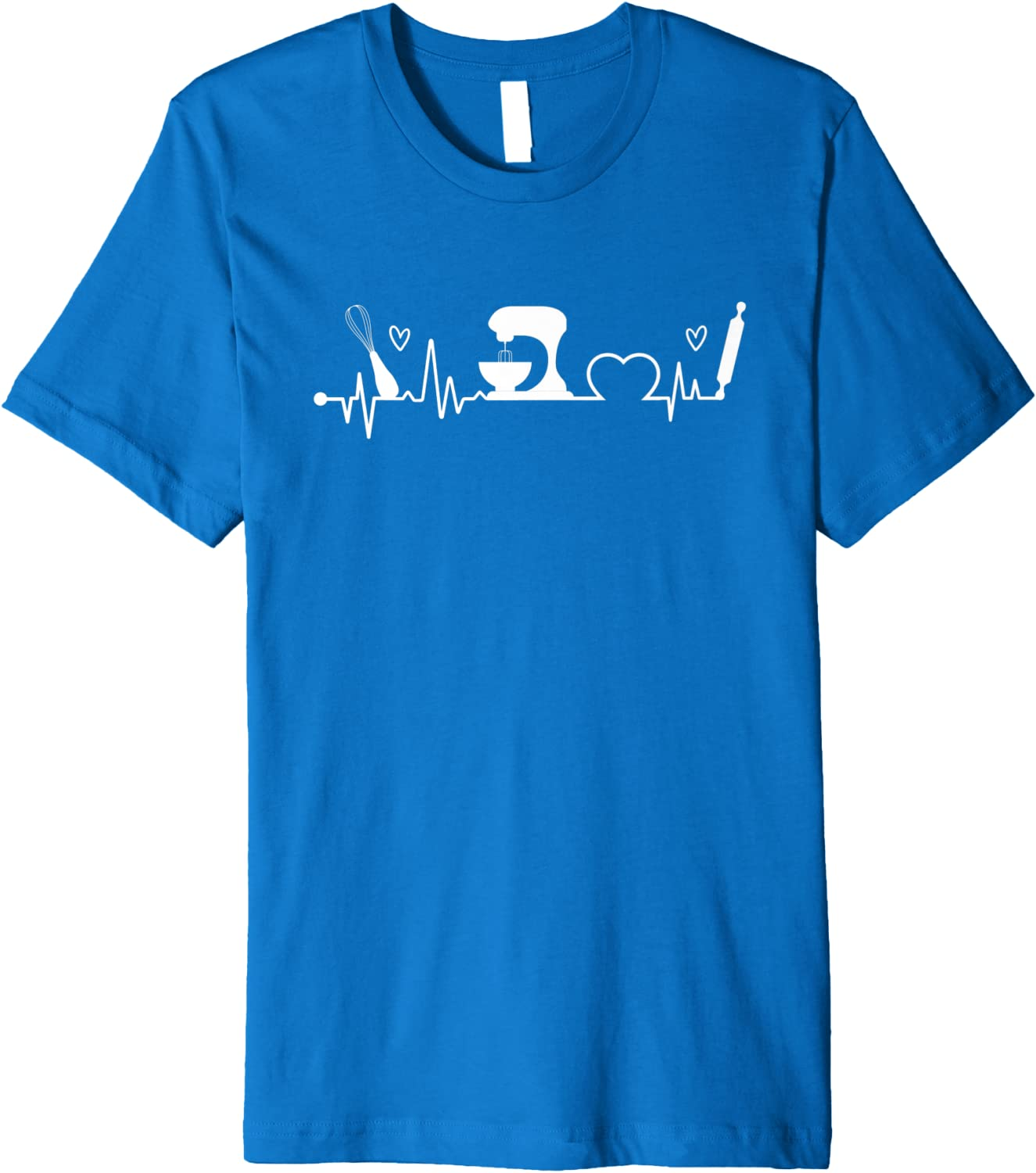 Baking Heartbeat Baker Bakery Owner Pastry Chef Premium T-Shirt-TH