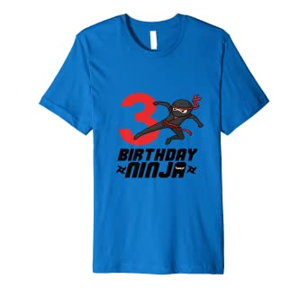 Amazon.com: Playera ninja de cumpleaños para niños, fiesta ...