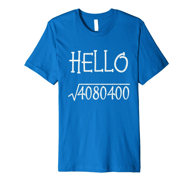 Mens Hello 2020 New Year Square Root Kids Teachers Math Geeks Premium T-Shirt