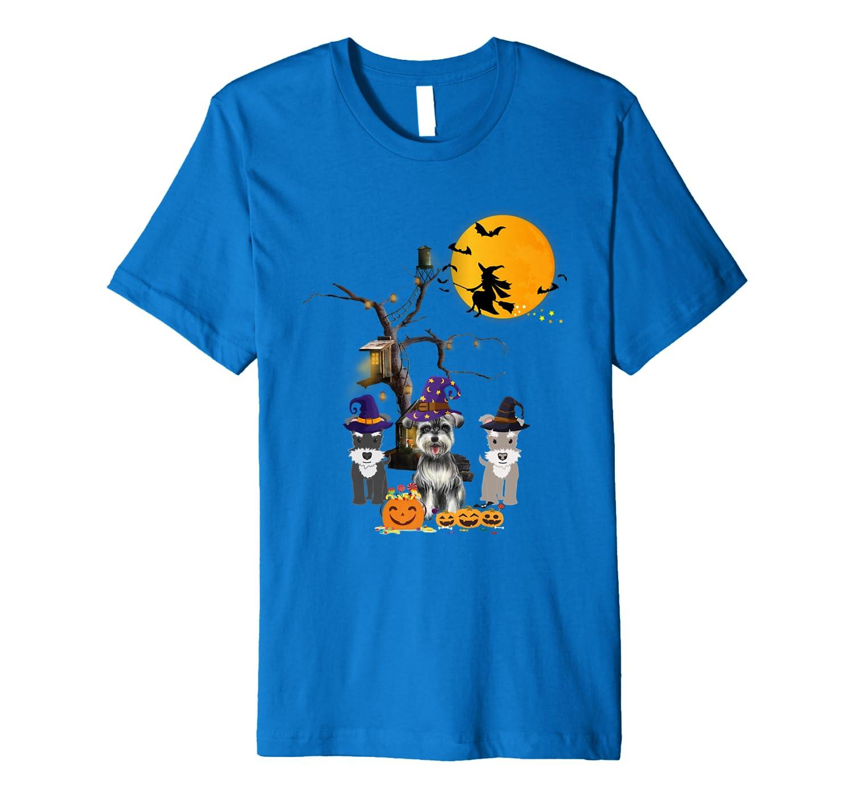 Funny Three Schnauzer Halloween Premium T-Shirt