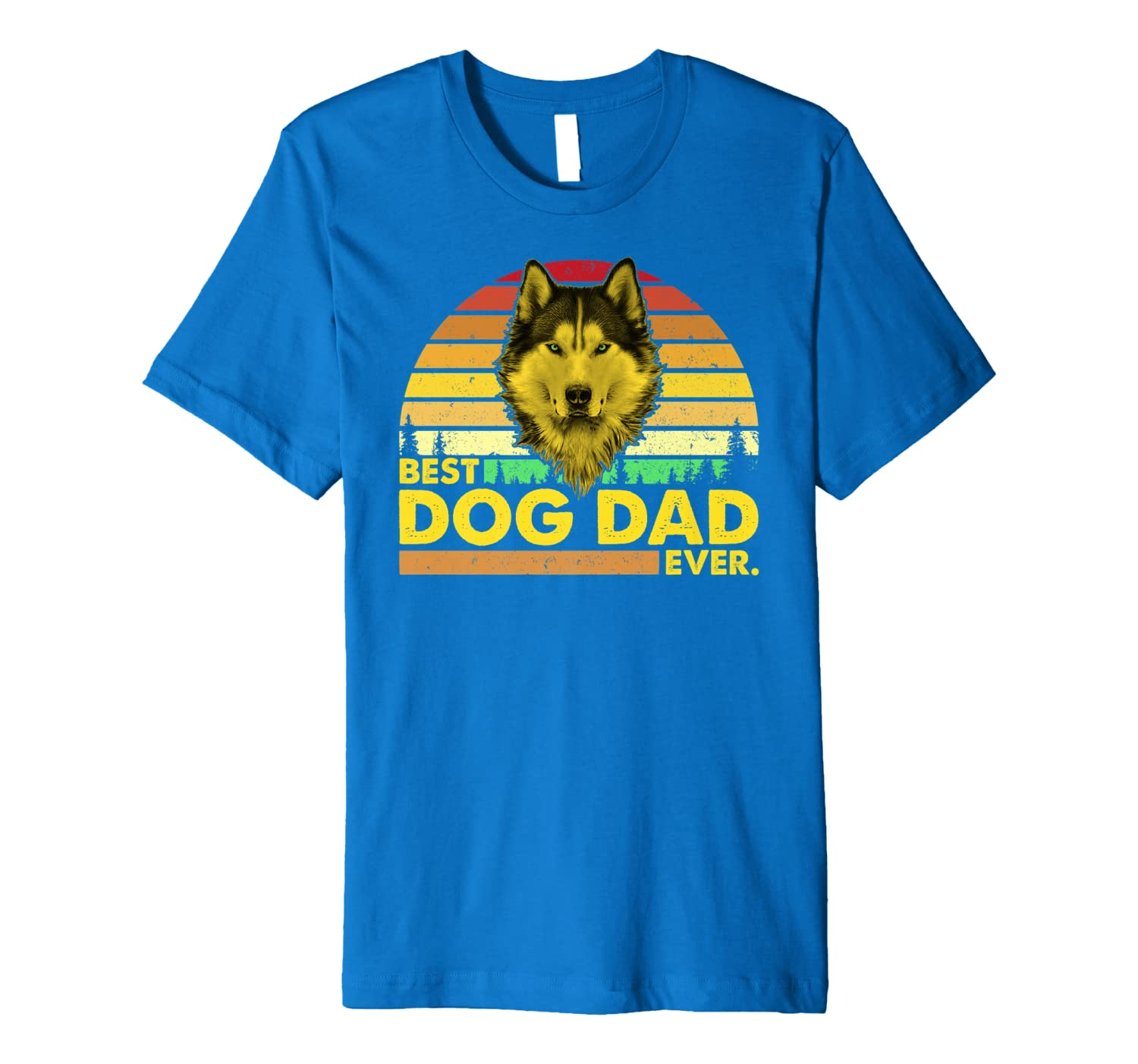 Vintage Best Husky Dad Ever Dog Daddy Father T-Shirt Unisex Tshirt