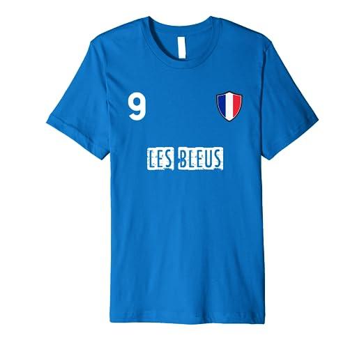 online store 28a67 7ac5b Amazon.com: France Player Number 9 Shirt 2018 Les Bleus Team ...