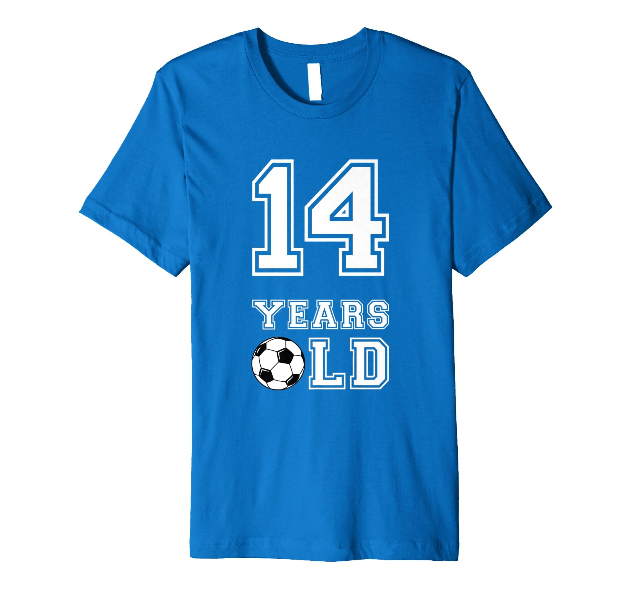 Amazon 14 Years Old Soccer Birthday Shirt Boy 14th Tee Clothing
