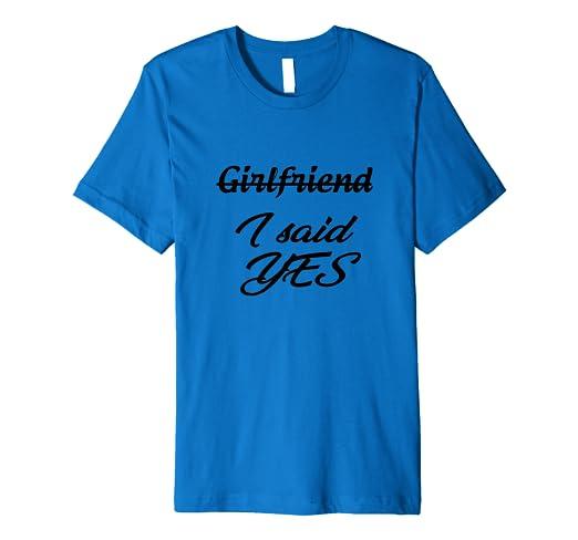 7dbd64d7 Amazon.com: Fiancee I said YES Engagement Party T-shirt: Clothing